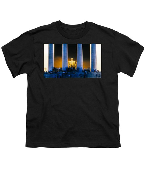 Tourists At Lincoln Memorial Youth T-Shirt by Panoramic Images