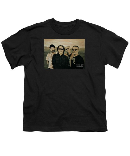 U2 Silver And Gold Youth T-Shirt by Paul Meijering