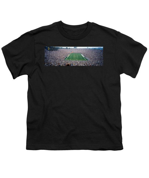 University Of Michigan Football Game Youth T-Shirt by Panoramic Images
