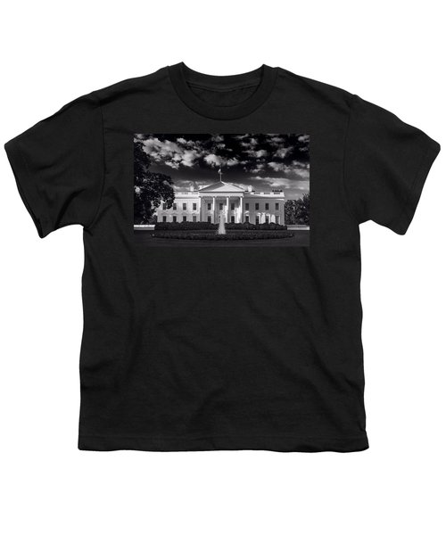 White House Sunrise B W Youth T-Shirt by Steve Gadomski