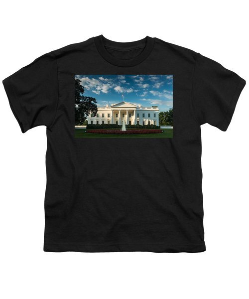 White House Sunrise Youth T-Shirt by Steve Gadomski