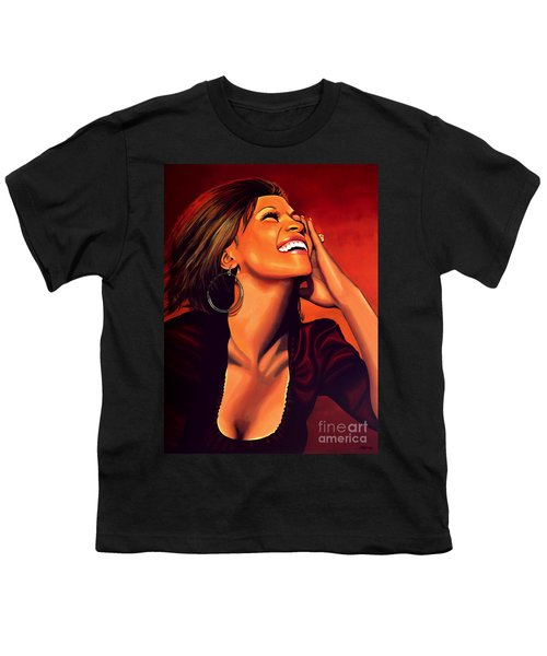 Whitney Houston Youth T-Shirt by Paul Meijering