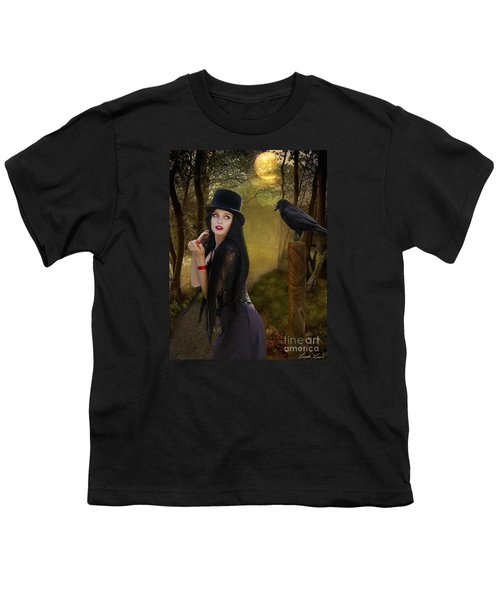 Words Of The Crow Youth T-Shirt by Linda Lees