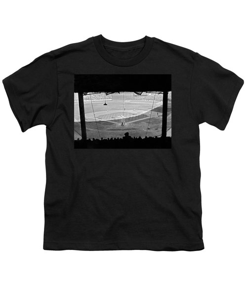 Yankee Stadium Grandstand View Youth T-Shirt by Underwood Archives