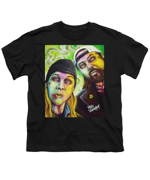 Zombie Jay And Silent Bob Youth T-Shirt by Mike Vanderhoof