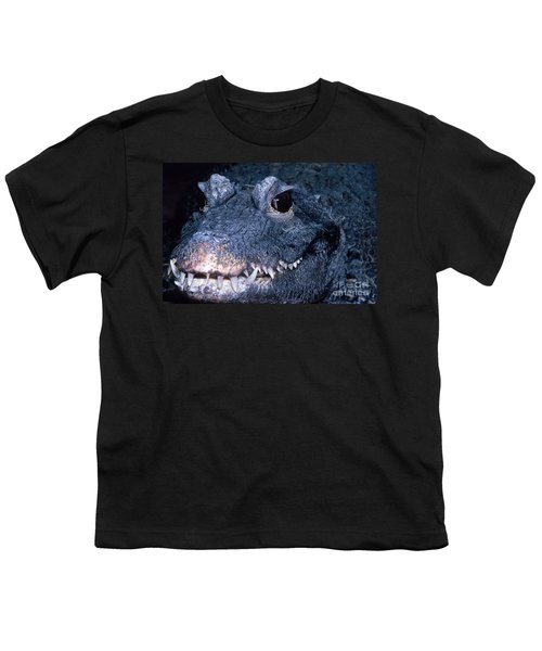 African Dwarf Crocodile Youth T-Shirt by Dante Fenolio