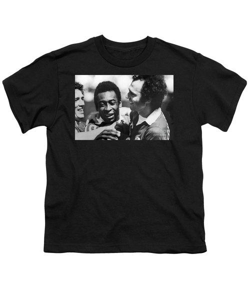 Pele & Beckenbauer, C1977 Youth T-Shirt by Granger