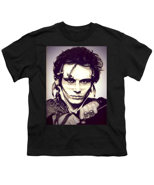 Adam Ant Youth T-Shirt by Fred Larucci