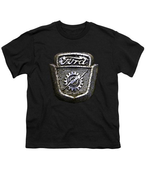 Ford Emblem Youth T-Shirt by Debra and Dave Vanderlaan