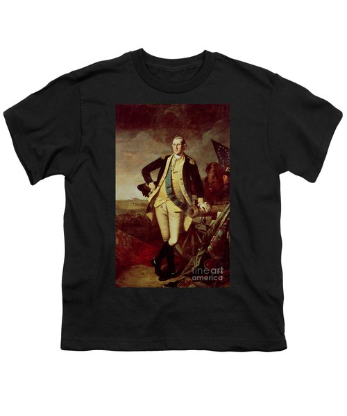 Portrait Of George Washington Youth T-Shirt by Charles Willson Peale