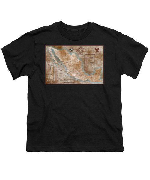 Mexico Surf Map  Youth T-Shirt by Lucan Hirales