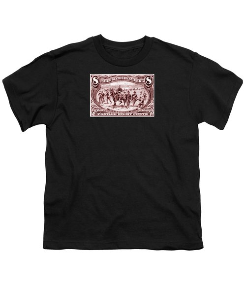 1898 Troops Guard Wagon Train Youth T-Shirt by Historic Image
