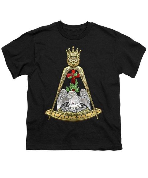 18th Degree Mason - Knight Rose Croix Masonic Jewel  Youth T-Shirt by Serge Averbukh