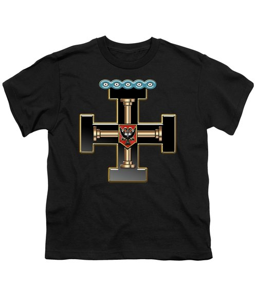 27th Degree Mason - Knight Of The Sun Or Prince Adept Masonic Jewel  Youth T-Shirt by Serge Averbukh