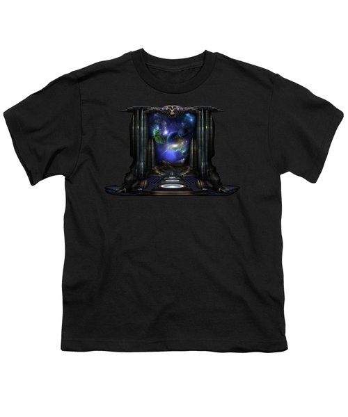 89-123-a9p2 Arsairian 7 Reporting Fractal Composition Youth T-Shirt by Xzendor7