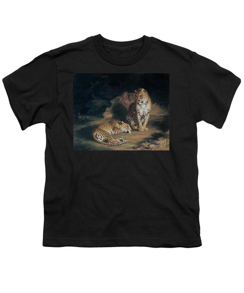 A Pair Of Leopards Youth T-Shirt by William Huggins