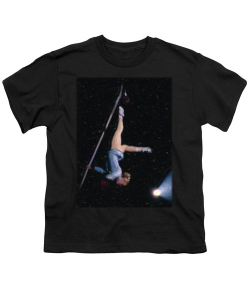 Aerial Acrobat Youth T-Shirt by Jon Delorme