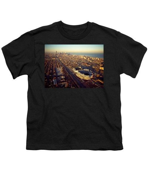 Aerial View Of A City, Old Comiskey Youth T-Shirt by Panoramic Images