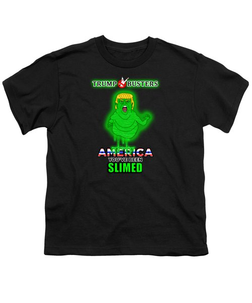America, You've Been Slimed Youth T-Shirt by Sean Corcoran