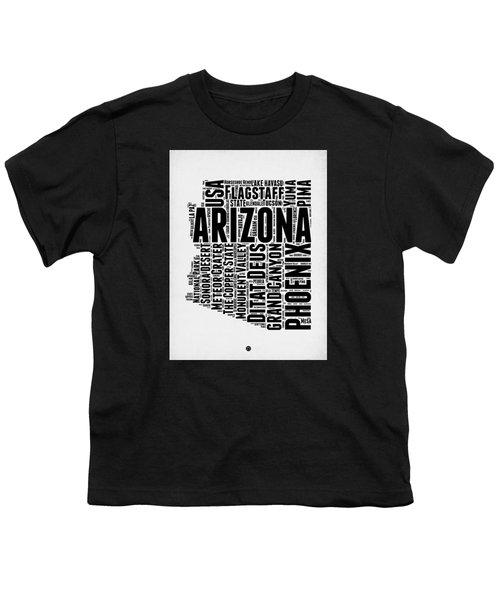 Arizona Word Cloud Map 2 Youth T-Shirt by Naxart Studio