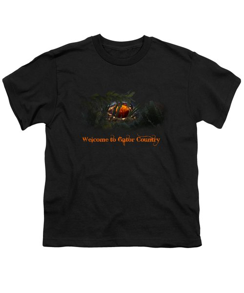 Welcome To Gator Country Youth T-Shirt by Mark Andrew Thomas