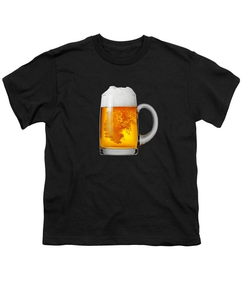 Glass Of Beer Youth T-Shirt by T Shirts R Us -