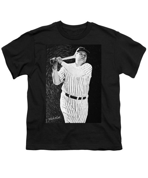 Babe Ruth Youth T-Shirt by Taylan Soyturk