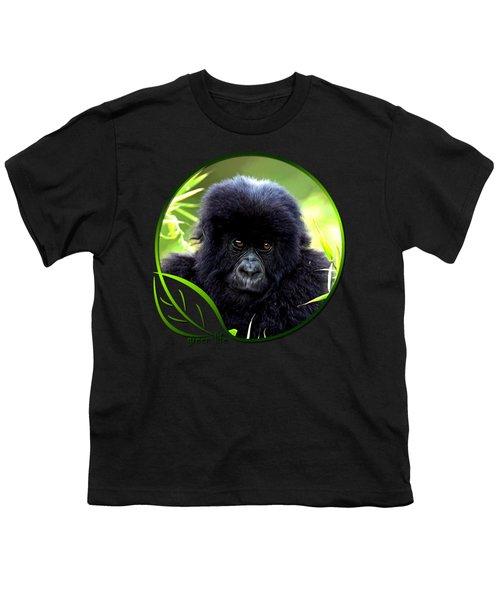 Baby Gorilla Youth T-Shirt by Dan Pagisun
