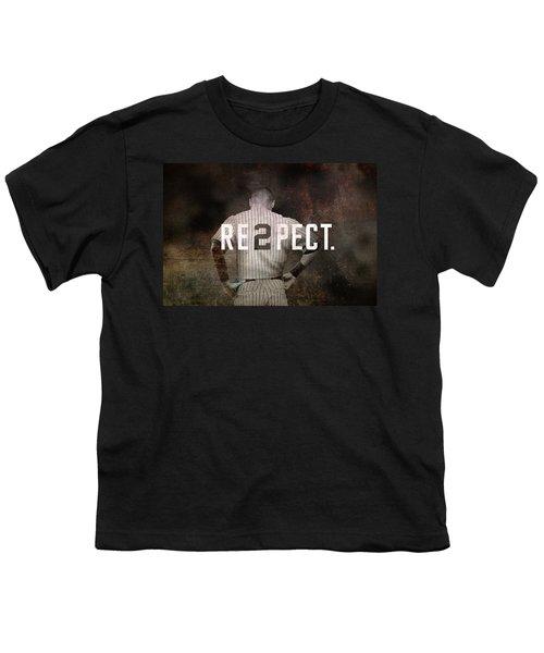 Baseball - Derek Jeter Youth T-Shirt by Joann Vitali