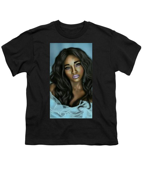 Beauty In Black Youth T-Shirt by Pat Carafa