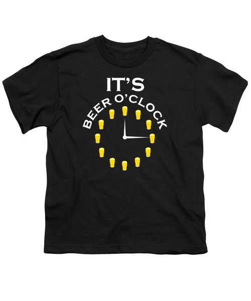 Beer O Clock Youth T-Shirt by Rully Sachrul