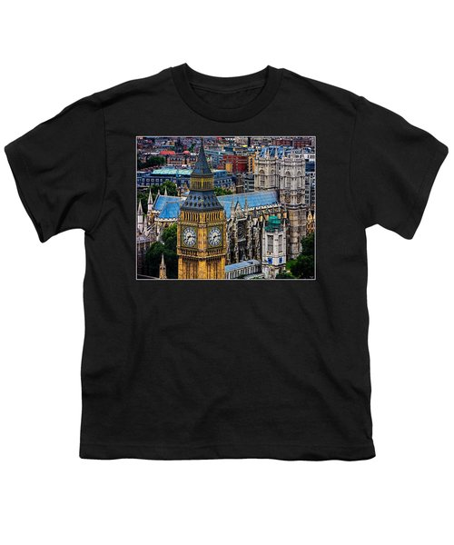 Big Ben And Westminster Abbey Youth T-Shirt by Chris Lord