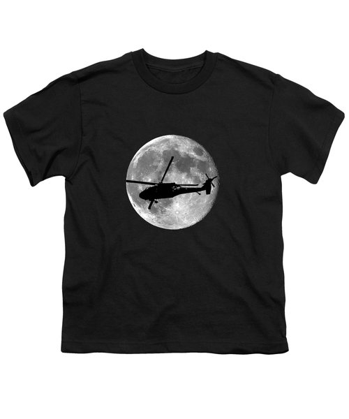 Black Hawk Moon .png Youth T-Shirt by Al Powell Photography USA