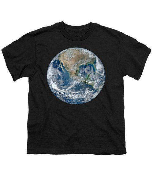 Blue Marble 2012 Planet Earth Youth T-Shirt by Nikki Marie Smith