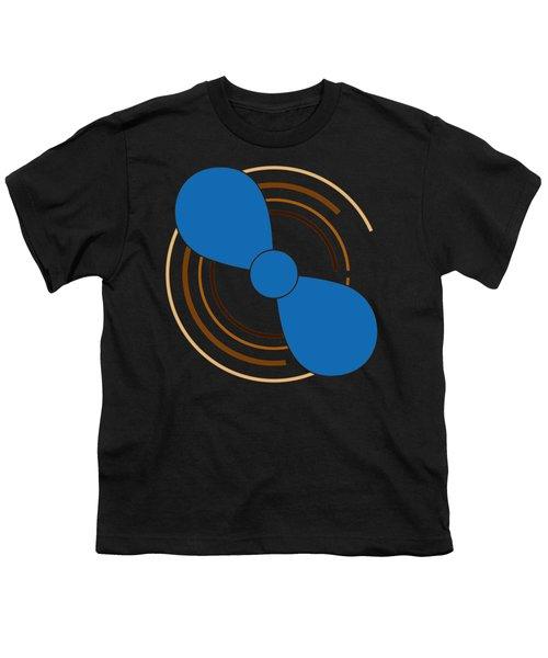 Blue Propeller Youth T-Shirt by Frank Tschakert