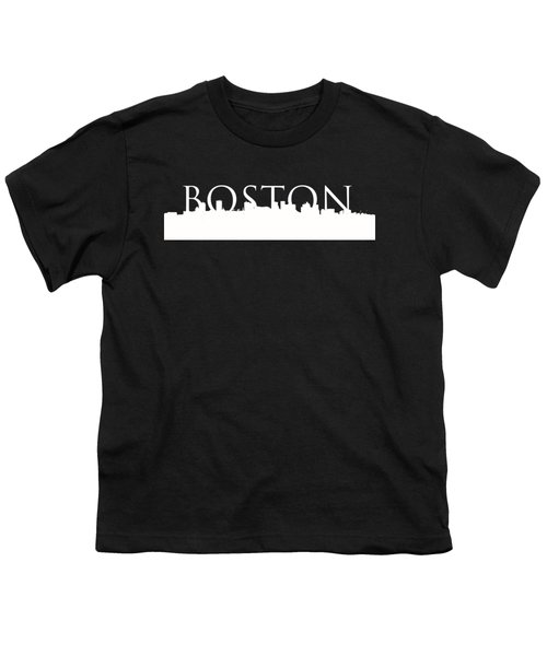 Boston Skyline Outline Logo 2 Youth T-Shirt by Joann Vitali