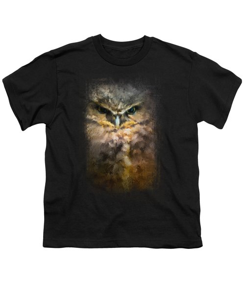 Burrowing Owl Youth T-Shirt by Jai Johnson