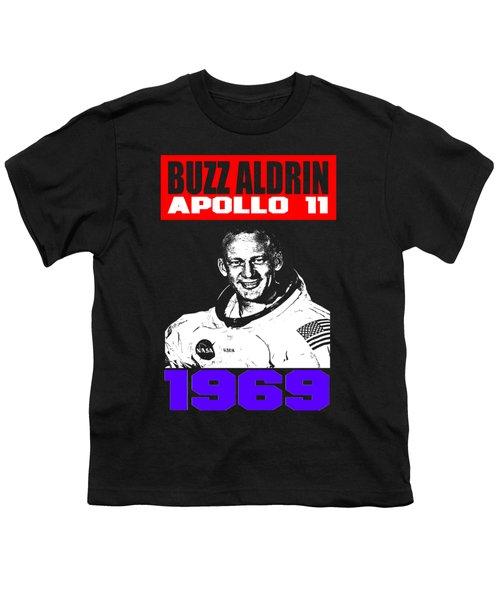 Buzz Aldrin Youth T-Shirt by Otis Porritt