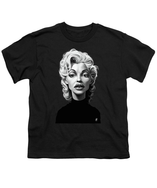 Celebrity Sunday - Marilyn Monroe Youth T-Shirt by Rob Snow