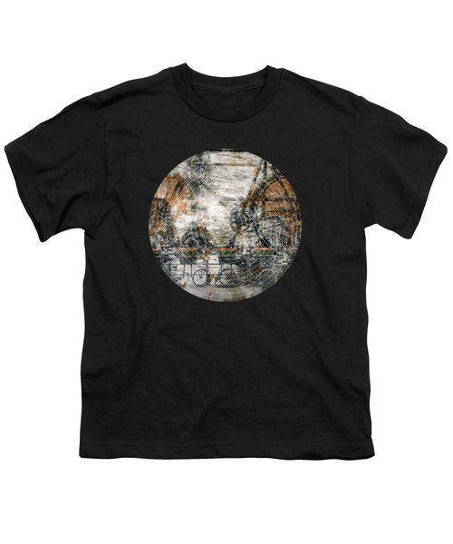 City-art Amsterdam Bicycles  Youth T-Shirt by Melanie Viola