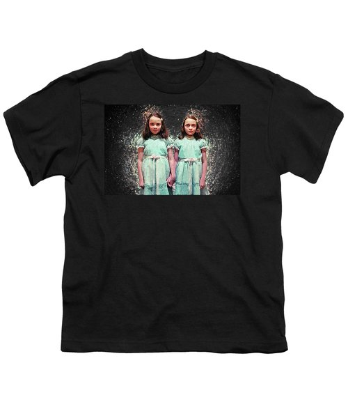 Come Play With Us - The Shining Twins Youth T-Shirt by Taylan Apukovska