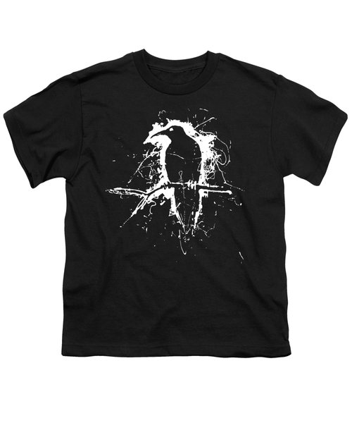 Crow Youth T-Shirt by H James Hoff