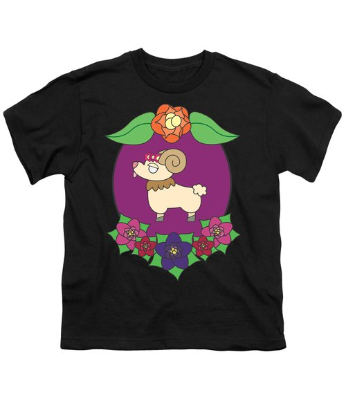 Cute Goat Youth T-Shirt by Jadrien Douglas