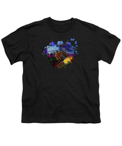 Dahlia Field Youth T-Shirt by Thom Zehrfeld