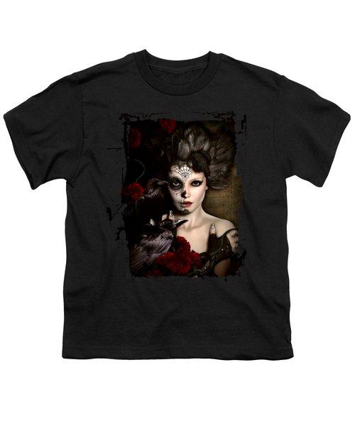 Darkside Sugar Doll Youth T-Shirt by Shanina Conway