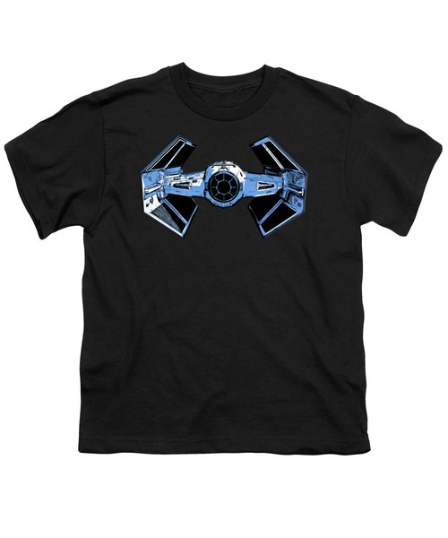 Darth Vaders Tie Figher Advanced X1 Tee Youth T-Shirt by Edward Fielding