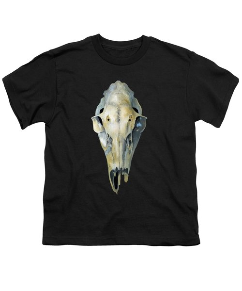 Deer Skull Aura Youth T-Shirt by Catherine Twomey