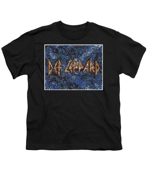Def Leppard Albums Mosaic Youth T-Shirt by Paul Van Scott