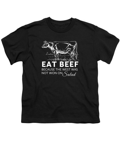 Eat Beef Youth T-Shirt by Nancy Ingersoll