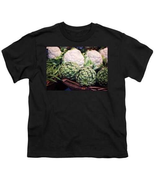 Eat Your Greens Youth T-Shirt by Heather Applegate